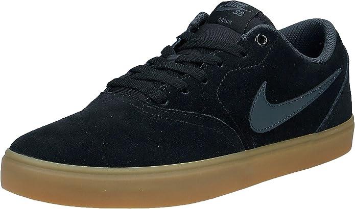 Nike SB Check Solarsoft Sneakers Skateboardschuhe Herren Schwarz/Gummi