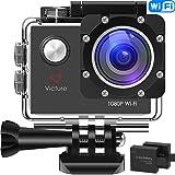 """Victure WiFi Action Cam Full HD 1080P Videocamera Sportiva Impermeabile Fotocamera 2 """"LCD 170 ° Gradi con 2 Batteria 20+ Kit Accessori"""