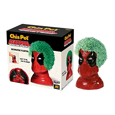 Chia Pet Marvel Deadpool with Seed Pack, Decorative Pottery Planter, Easy to Do and Fun to Grow, Novelty Gift, Perfect for Any Occasion (CP405A08): Garden & Outdoor