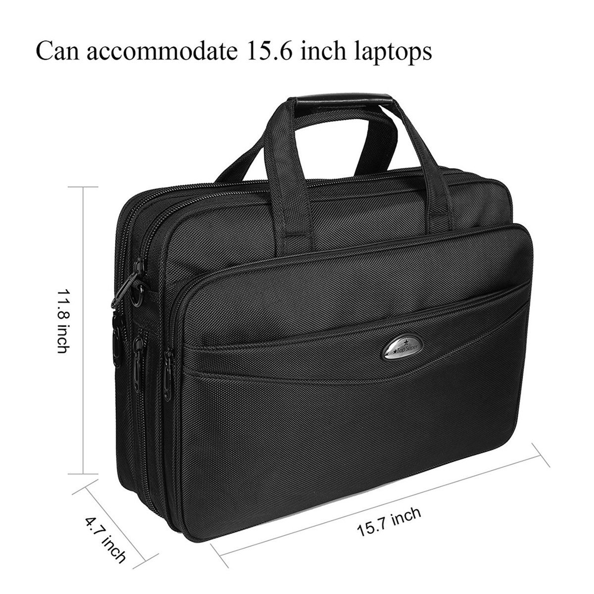 Briefcase 15.6 Inch Laptop Bag Laptop Messenger Bag, Business Office Bag Multifunctional Laptop Case Shoulder Bags for Men Women Fit for 15'' 15.6 Inch Acer HP Dell Lenovo Computer Notebook MacBook by Top Super (Image #3)