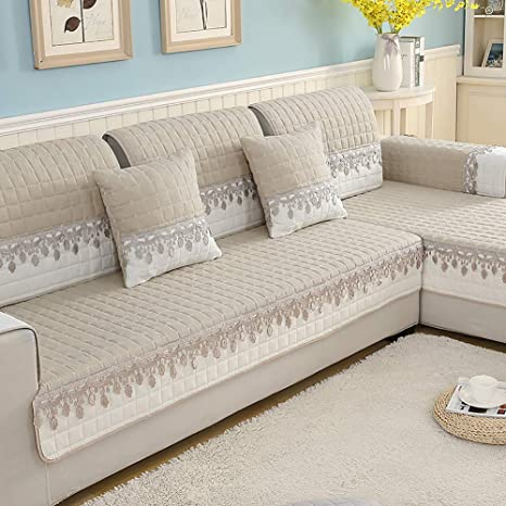 Amazon.com: SANDM Jacquard Sofa slipcover, Anti-Slip Sofa ...