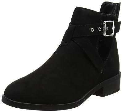 New Look Damen Wide Foot Chrome Stiefel, Schwarz (Schwarz), 37 EU