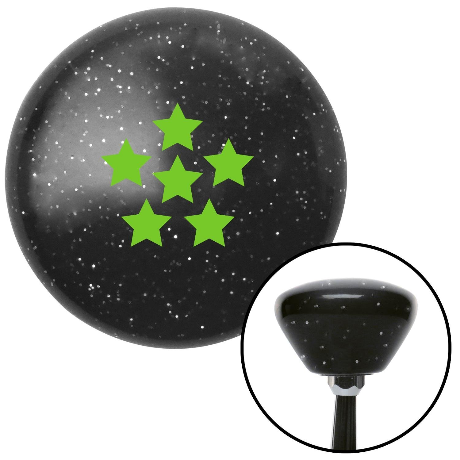 American Shifter 175960 Black Retro Metal Flake Shift Knob with M16 x 1.5 Insert Green Dragon Ball Z - 6 Star