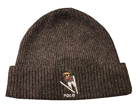 bf18aca0 Polo Ralph Lauren Men's Polo Bear Ski Cuffed Beanie Skull Cap at ...