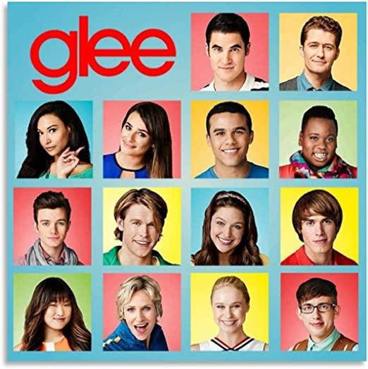 ZXCVM Glee 25 Vintage Classic Movie TV Poster Prints Canvas Pictures Paintings on Canvas Wall Art for Home Decor Poster 12x12inch(30x30cm)