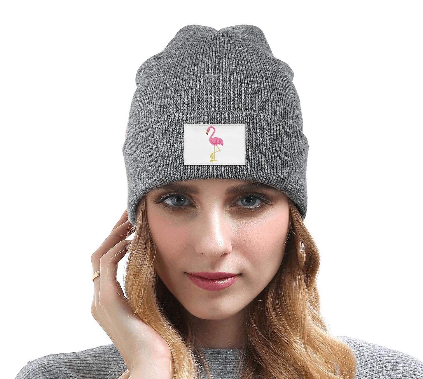 gigiring Being a Flamingo Gifts Winter Cuff Beanie Hat Skull Cap for Men Women