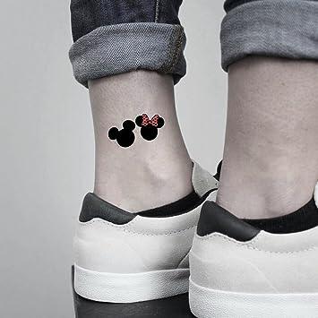 Amazon Com Mickey Minnie Mouse Temporary Tattoo Fake Tattoo