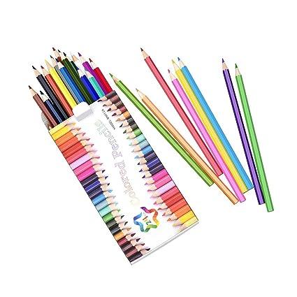 Amazon.com : 24 Colored Pencils Set, Atmoko Watercolor Art Coloring ...