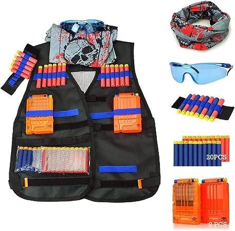 Réglable Tactical Vest Accessoire Kit Veste pour Nerf N-Strike Team Elite