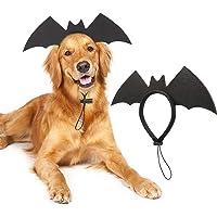 RYPET Dog Bat Costume - Halloween Dog Costumes Dog Bat Wings Headband for Medium and Large Dogs