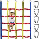 Trsmima Climbing Cargo Net for Kids Ninja Net Climbing Swingset Polyester Rope Ladder for Jungle Gyms Playground Ribbon Net O