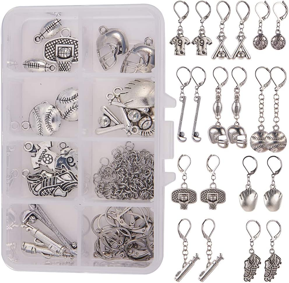 50x Silver Heart Pendant Pattern Charms for DIY Jewelry Making Findings