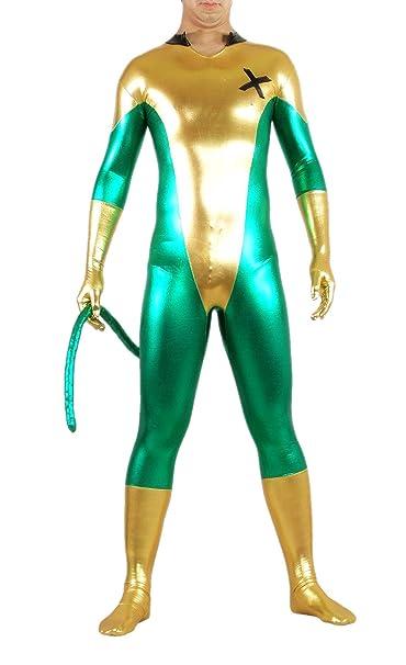 BlackSunnyDay Spandex Shiny X-Man Hoodless Lycra Tail Catsuit (XXL ... ce71e1ccd