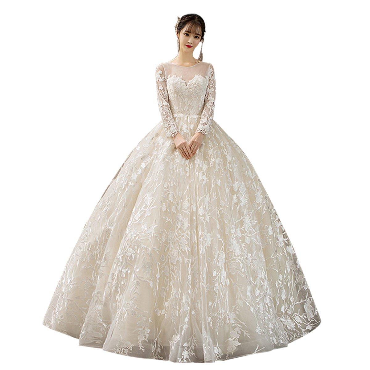 Erosebridal Women S Sheer Sweetheart Neckline Bridal Ball Gowns