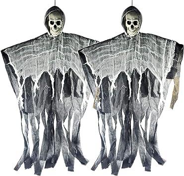 Homo Trends Decorazioni fantasma da appendere decorazione di scheletro di Halloween per Halloween 60 g ragnatela e 6 ragnateli per Halloween