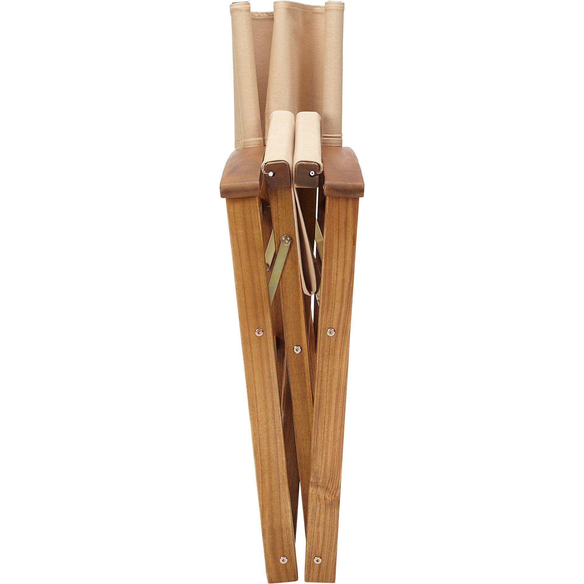 Acacia Wood Folding Director's Chair - Natural