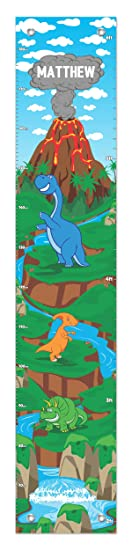 Kids Height RULER Growth Chart Personalised Dinosaur Family Gift  Tools