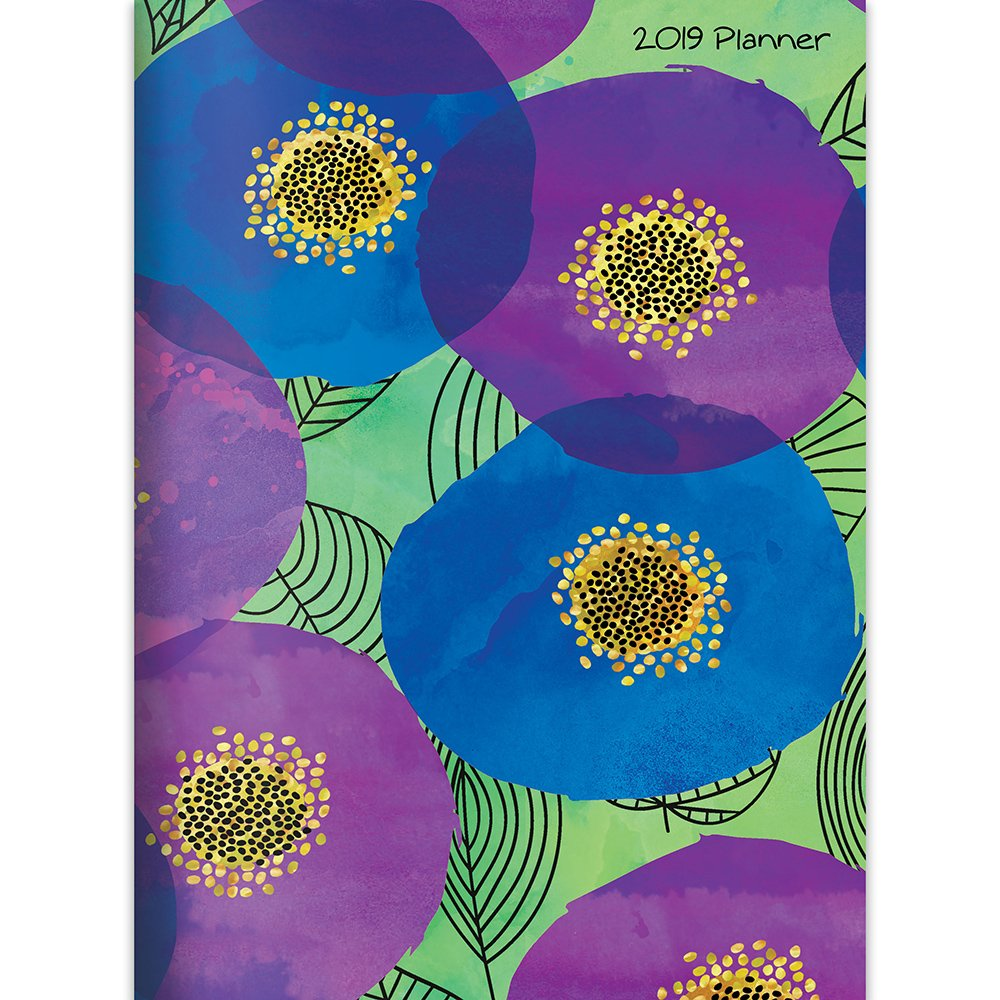 2019 floral poppies monthly planner floral planner watercolor flowers