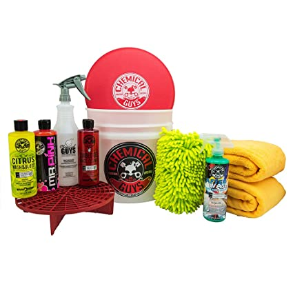 Amazon Com Chemical Guys Hol121 Best Car Wash Bucket Kit 11 Items