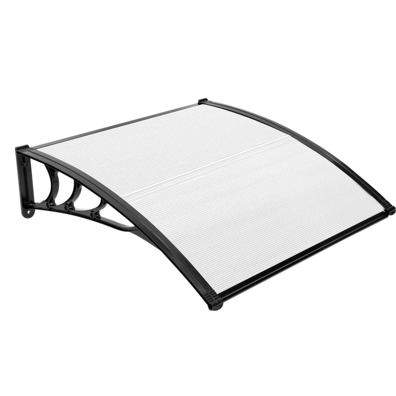 JOO Life 40''x 40'' Door Window Awnings Outdoor Shade Polycarbonate UV Rain Snow Protection Patio Sunshade Cover Canopy