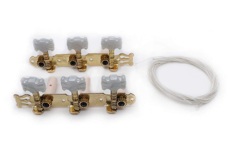 Timiy 2pcs(L&R) Acoustic Folk Classical Guitar Machine Heads Tuning Keys Pegs String Tuners & Nylon String Set