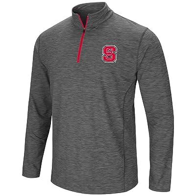 Colosseum Mens NC State Wolfpack Action Pass Long Sleeve Quarter Zip Wind Shirt
