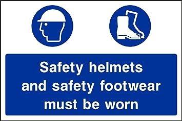 IVA Factura incluye 200 Letrero cascos y botas debe llevarse – Salud y Seguridad de vinilo