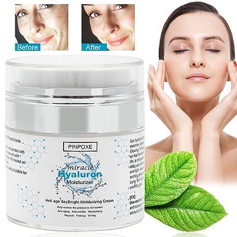 Ácido hialurónico Cream, para cara, cuello y ojo Partie, cara Humedad Serum con