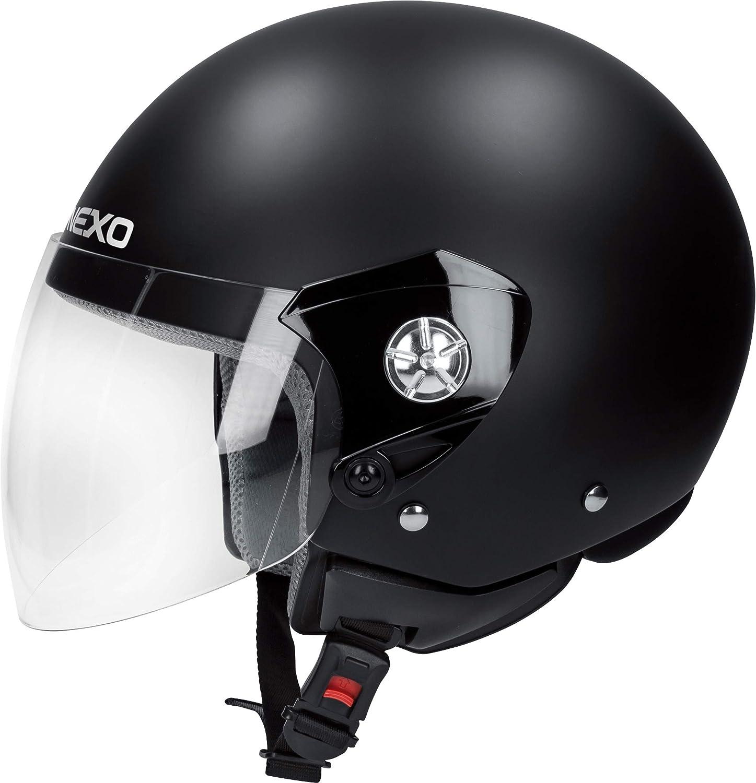 Nexo Jethelm Motorradhelm Helm Motorrad Mopedhelm Demi Jet Helm City Unisex Ganzj/ährig Chopper//Cruiser Thermoplast