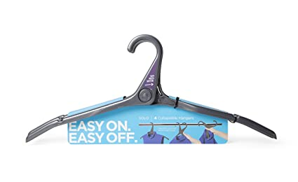 amazon com quirky sol 1 chr solo collapsible hanger charcoal set