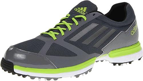 adidas Men's Adizero Sport Golf Shoe,Lead/Dark Silver Metallic/Slime,9