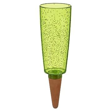 Scheurich Copa XXL, dispensador de agua de plástico y sonido Cono Plantas de accesorio, color verde de Pearl, 13 x 13 x 37 cm: Amazon.es: Jardín