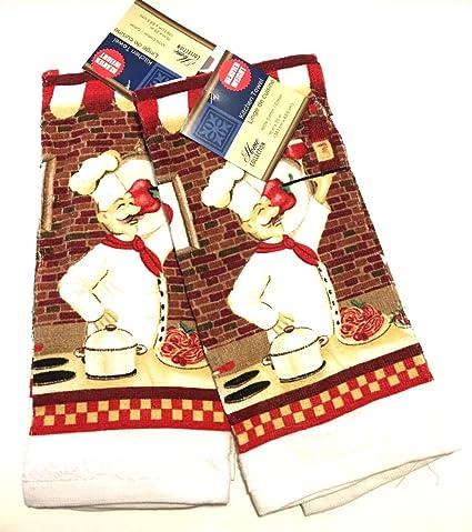 Home Collection Italiano para espaguetis más pesado peso cocina juego de toallas