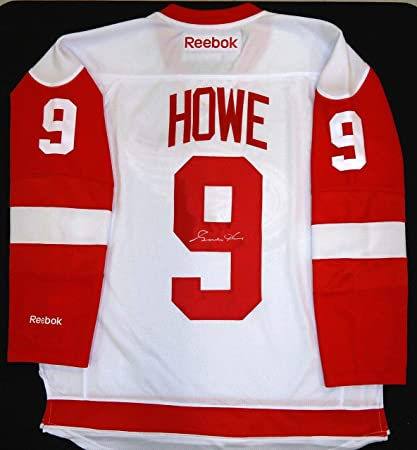 ee83a436746 Gordie Howe Autographed Jersey - Road - Autographed NHL Jerseys at Amazon's  Sports Collectibles Store