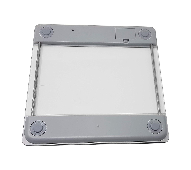 indicateur de temp/érature et arr/êt automatique. Pritech Balance de salle de bains num/érique en verre transparent haute pr/écision avec illumination LCD Blue