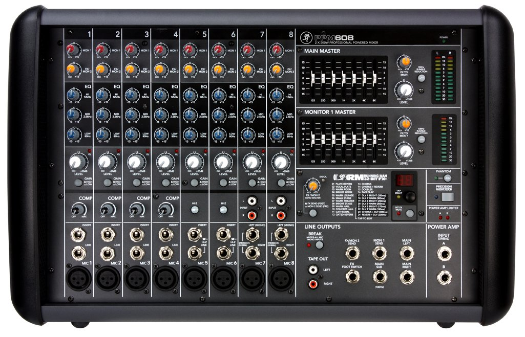 Mackie PPM608 8-Channel 1,000-Watt Powered Mixer