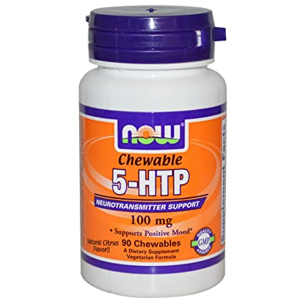NOW Foods - 5-HTP masticables Natural cítrico sabor 100 mg. - tabletas masticables