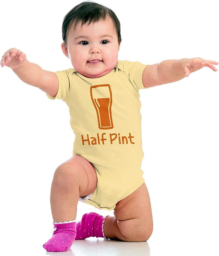 Half Pint Small Baby Funny Sarcastic Beer Youth /& Toddler Tee Shirt