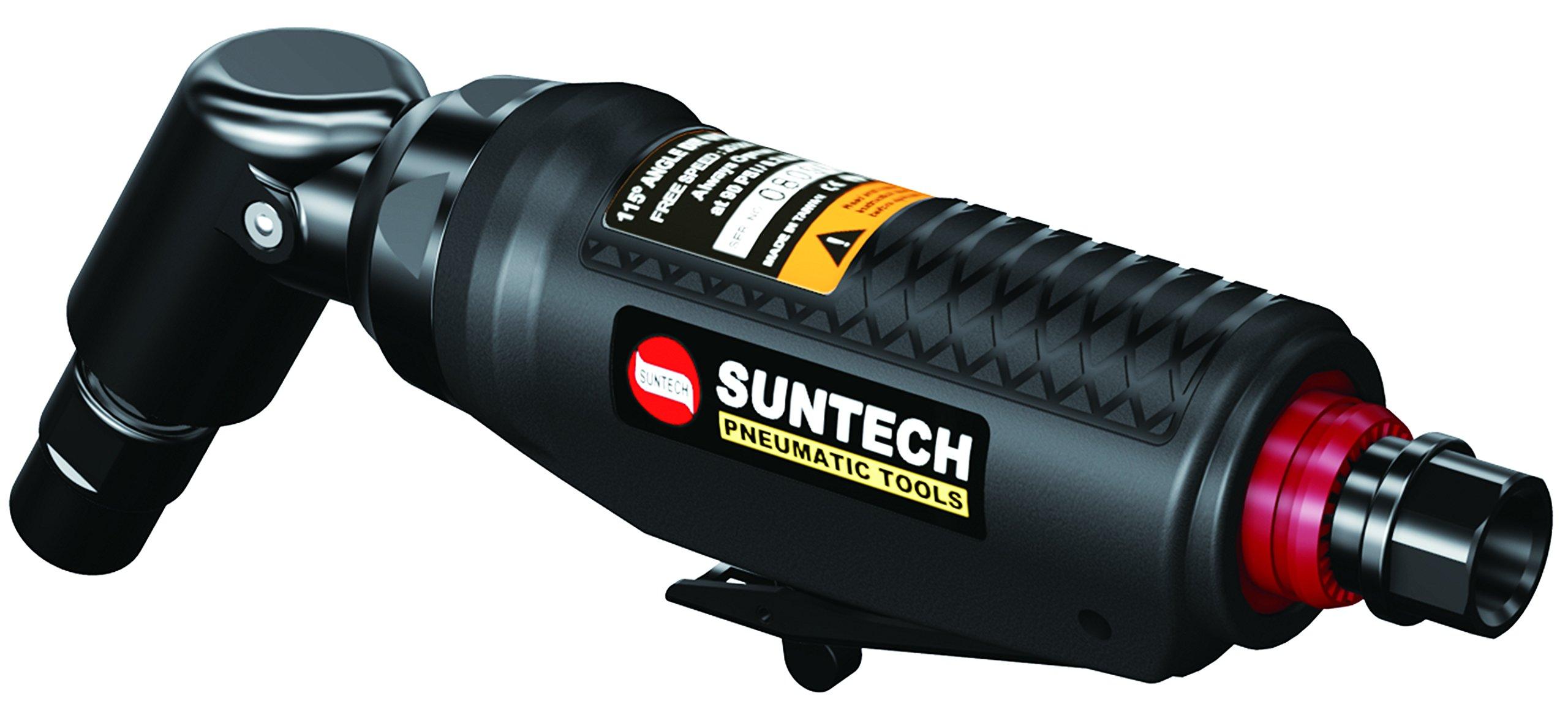 SUNTECH SM-55-5300 Sun match 1/4'' 115 degree Angle Die Grinder, Black