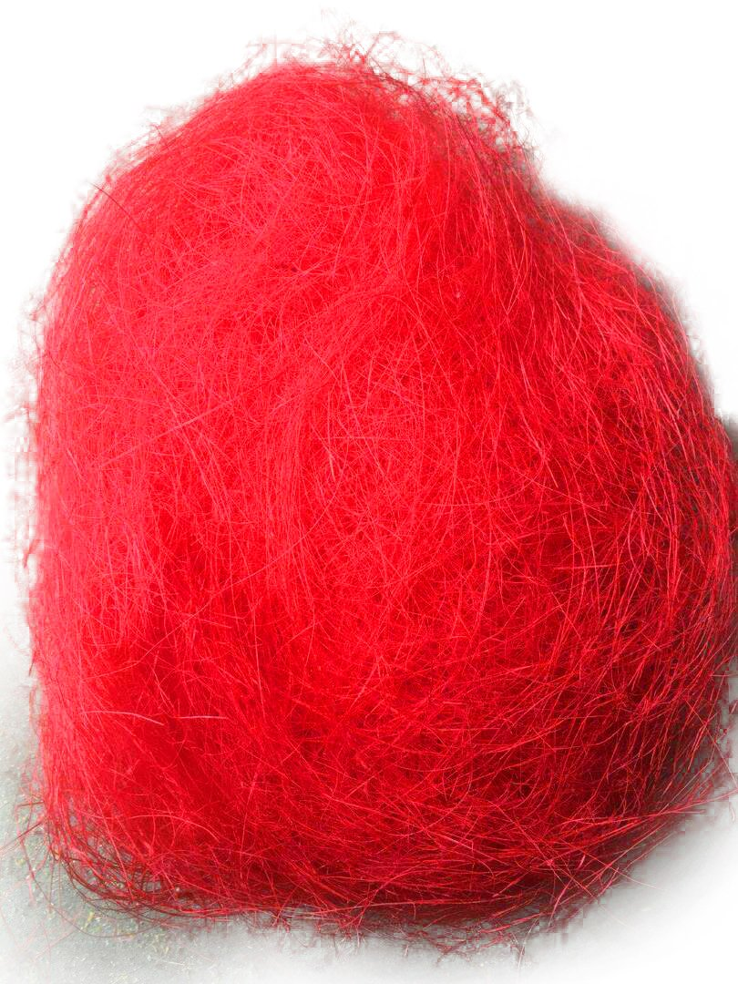 AAYU Natural Fiber from Sisal Premium Quality Red Colored, 8oz per Bag, DIY Project and Basket Decoration Use