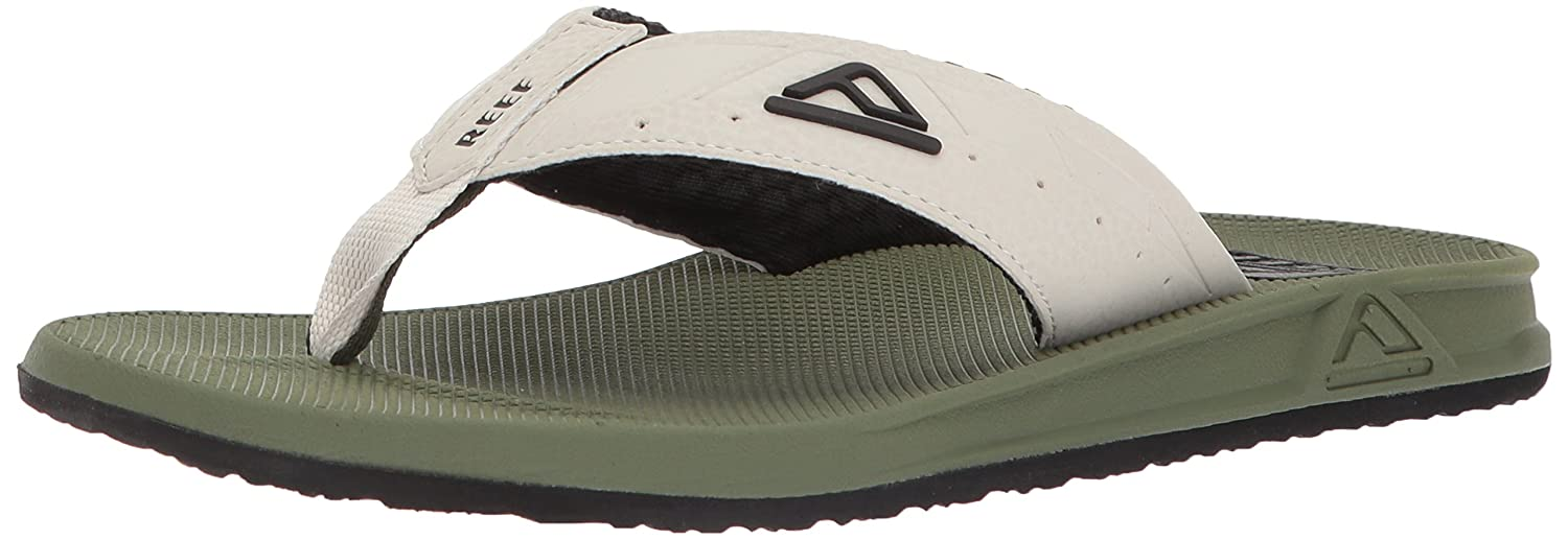 TALLA 43 EU. Reef Phantoms Olive/Tan, Chanclas para Hombre