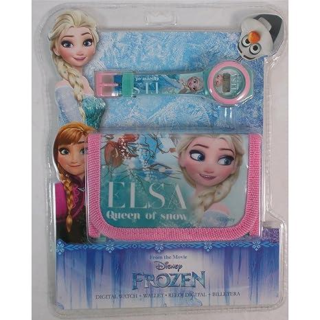 Set billetera + reloj Frozen Disney