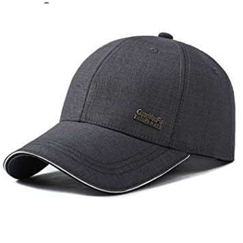 03fd6c67221 Donna Pierce Stylish Spring Adjustable Cotton Fitted Baseball Caps Male  Simple Black Formal Snapback Dad Hat