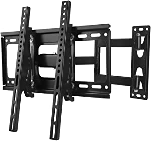 WALI Articulating TV Wall Mount Bracket Full Motion 15 inch Extension Arm for 26-55 inches LED, LCD Flat Screen TVs VESA up to 400x400mm