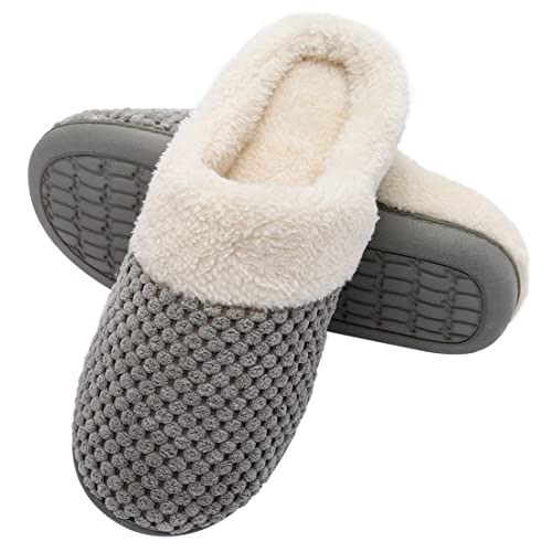 Ultra ideas fleece and memory foam slippers