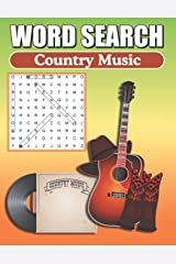 Word Search Country Music: Word Find Book For Adults Paperback