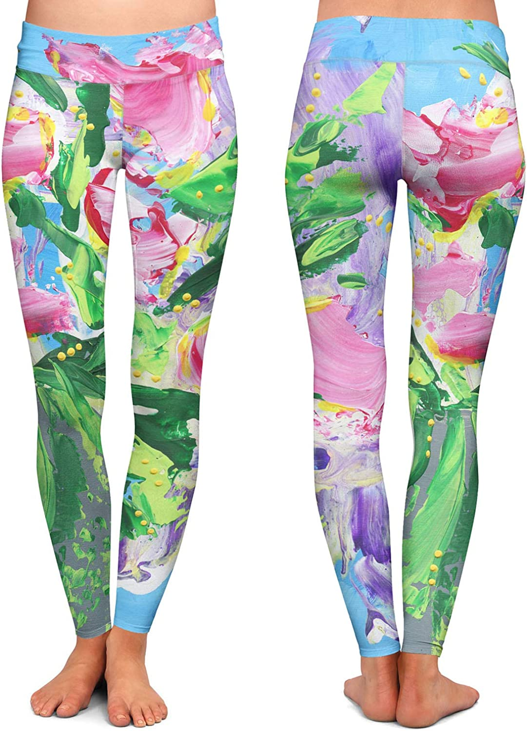 Athletic Yoga Leggings from DiaNoche Designs by Shay Livenspargar Tulip Love