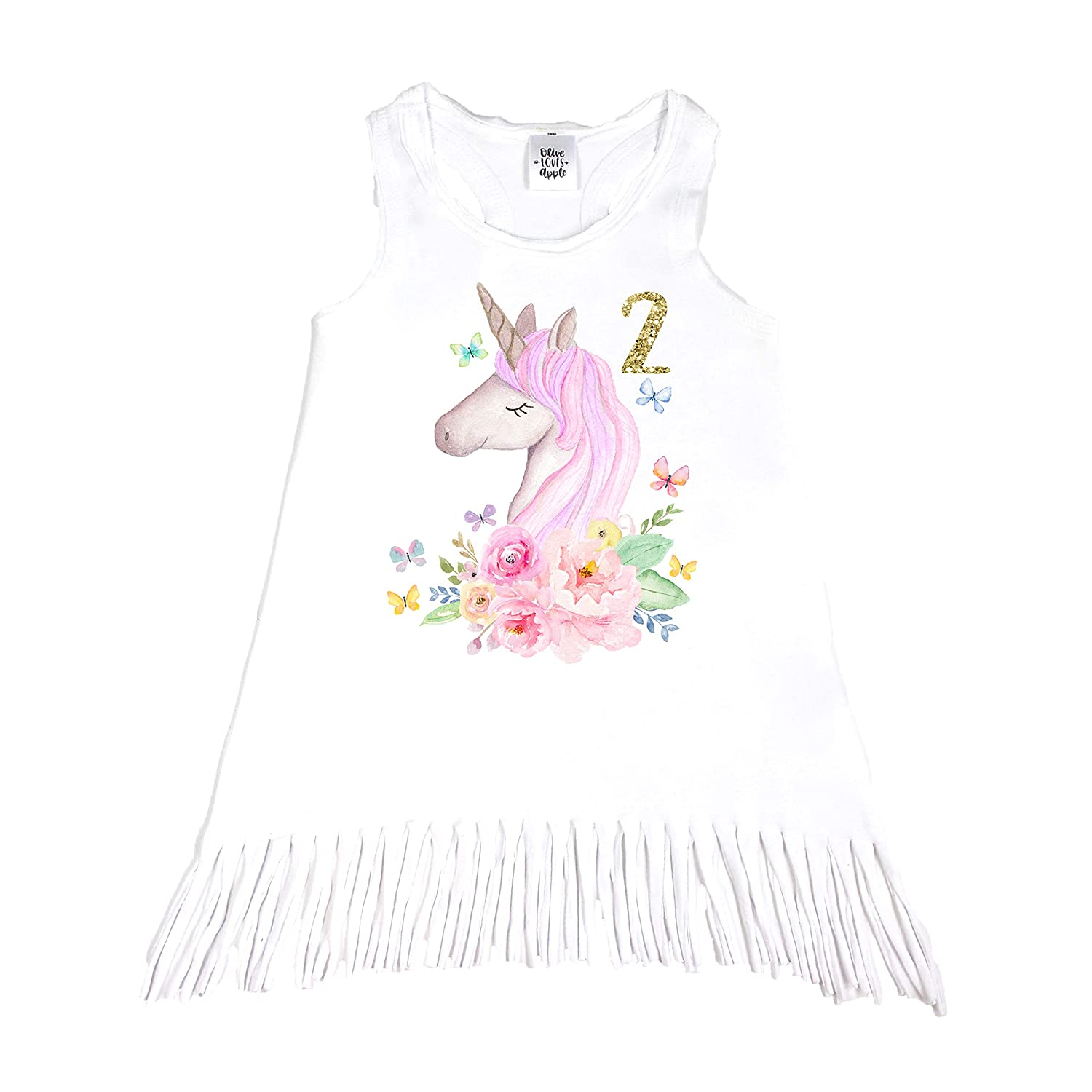 Unicorn 2nd Birthday Outfit Baby Girl