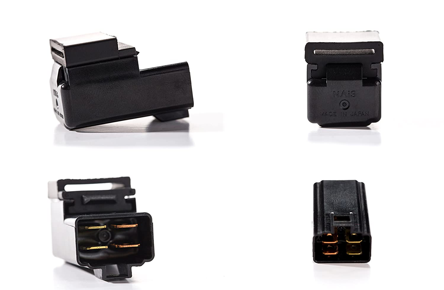 Direct Replacement Relay for Yamaha Part 29U-81950-93-00 - Made in Japan Sealed Four Terminal 501 Parts