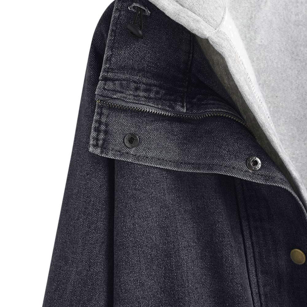 ZAFUL Giacca da Donna in Denim Cappotto con Cappuccio Gilet Pulsante Giacca/Antivento/Donna Giacche Abbigliamento di Strada